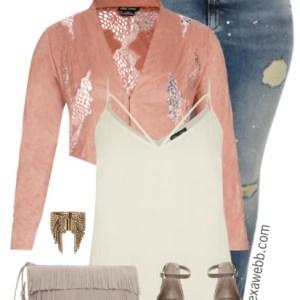 Plus Size Lace Jacket Outfit - Plus Size Fashion for Women - alexawebb.com #alexawebb