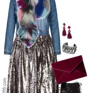 Plus Size Sequin Skirt Outfit - Plus Size Fashion for Women - alexawebb.com