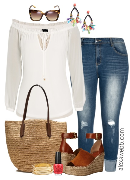 Plus Size Casual Spring Outfit Alexa Webb