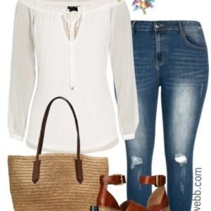 Plus Size Casual Spring Outfit - Plus Size Fashion for Women - Plus Size Outfit Ideas - alexawebb.com #alexawebb