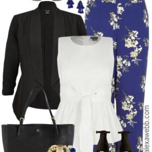 Plus Size Floral Wide Leg Pants Outfits - Plus Size Work Outfit - Plus Size Fashion for Women - alexawebb.com #alexawebb