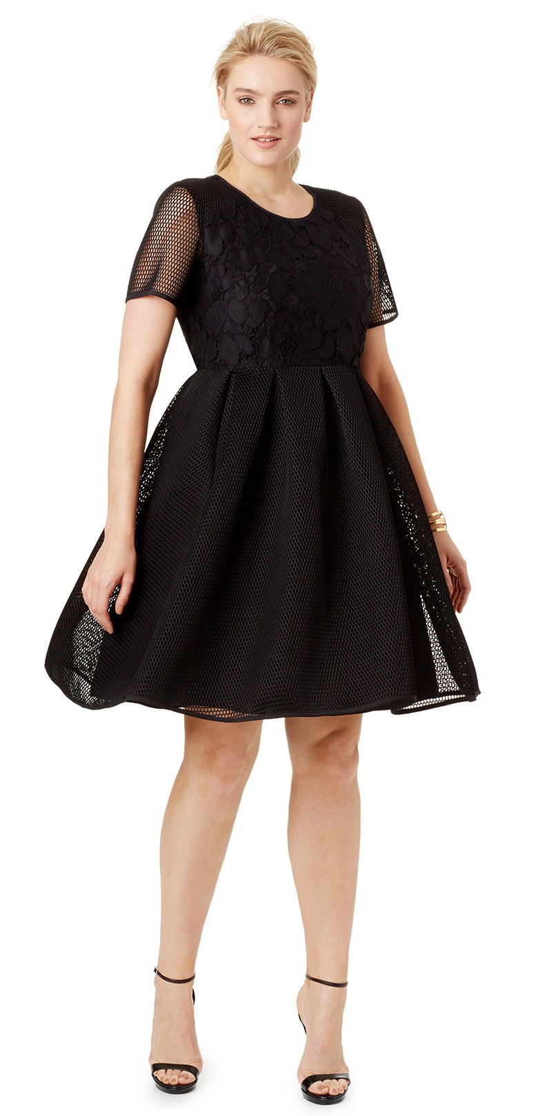 Plus size cocktail dresses with sleeves cheap