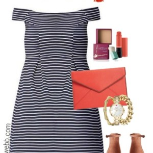Plus Size Striped Dress - Plus Size Outfit Idea - Plus Size Fashion for Women - alexawebb.com #alexawebb