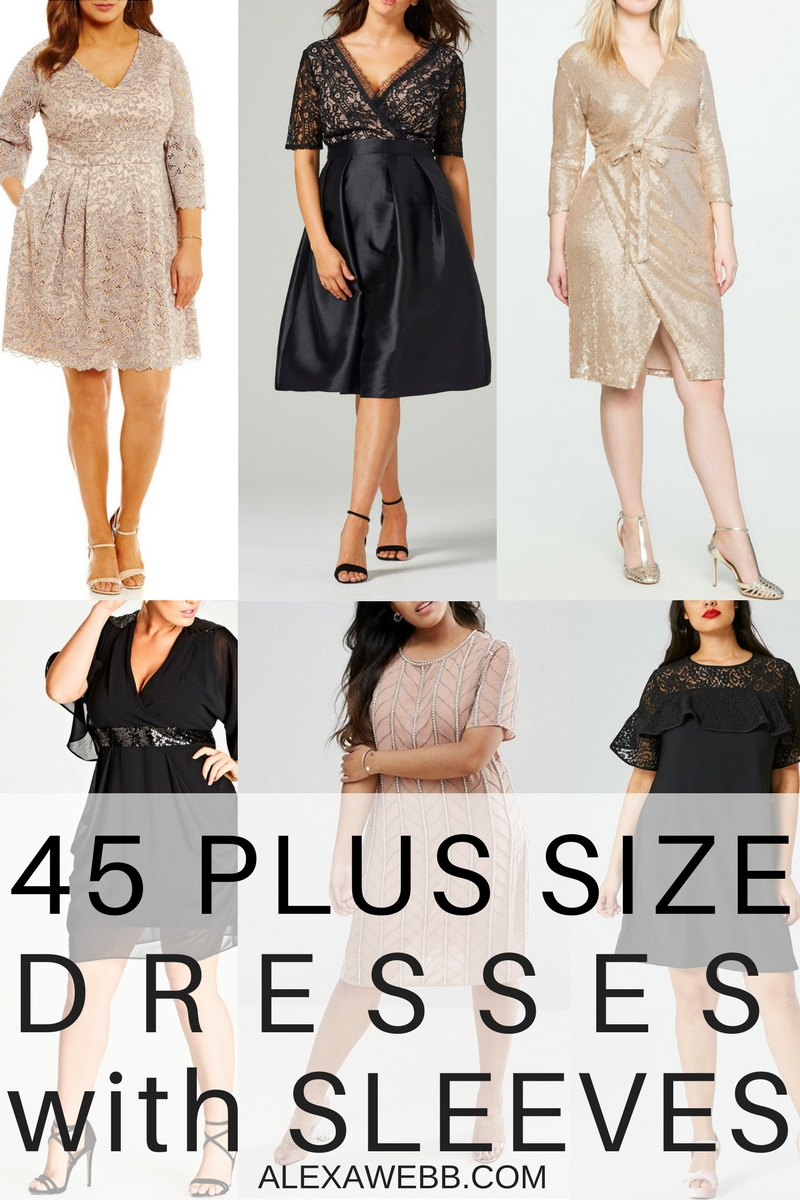 45 Plus Size Wedding Guest Dresses {with Sleeves}