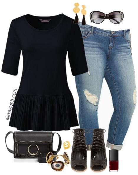 cb18b2b57a1 Plus Size Peplum Top Outfit - Plus Size Summer Outfit Idea - Plus Size  Fashion for