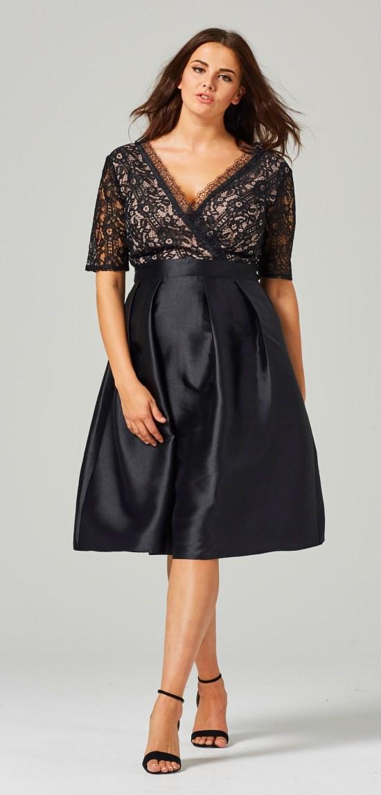 b3e73d3c58 45 Plus Size Wedding Guest Dresses  with Sleeves  - Plus Size Cocktail  Dresses -