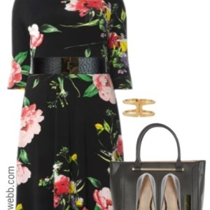 Plus Size Floral Dress Outfit - Plus Size Work Outfit - Plus Size Fashion for Women - alexawebb.com #alexawebb