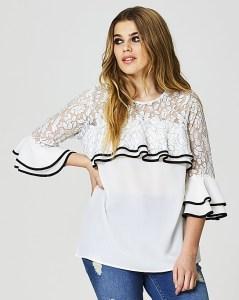 Plus Size Ruffle Blouse Outfit - Plus Size Fashion for Women - alexawebb.com #alexawebb