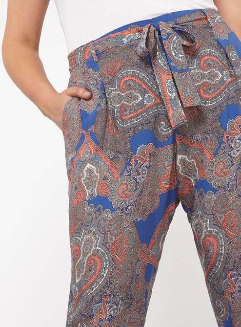 Plus Size Paisley Joggers - Plus Size Fashion for Women
