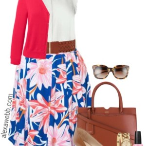 Plus Size Summer Skirt {4 Ways} - Plus Size Fashion for Women - alexawebb.com #alexawebb