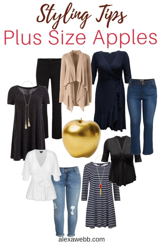 Styling Tips For Plus Size Apple Shapes Alexa Webb