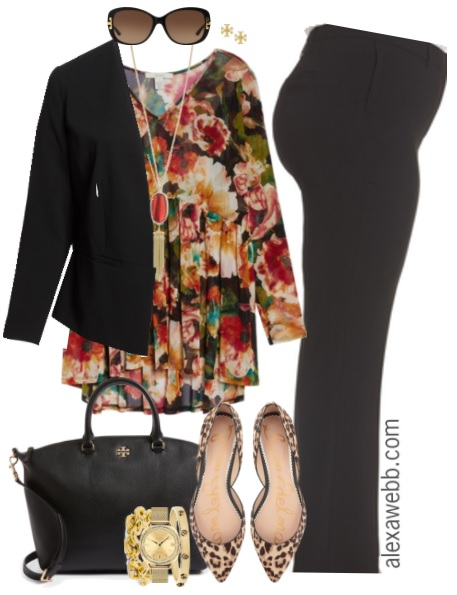 Plus Size Fall Work Outfit - Plus Size Fashion for Women - Plus Size Business Attire - alexawebb.com