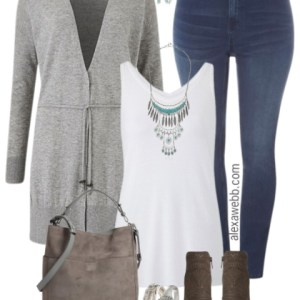 Plus Size Grey Cardigan Outfits