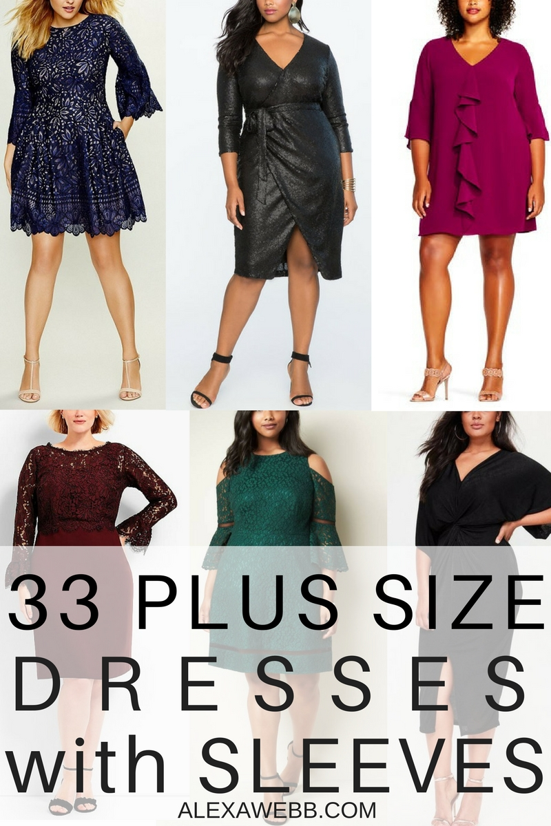 33 Plus Size Wedding Guest Dresses {with Sleeves}