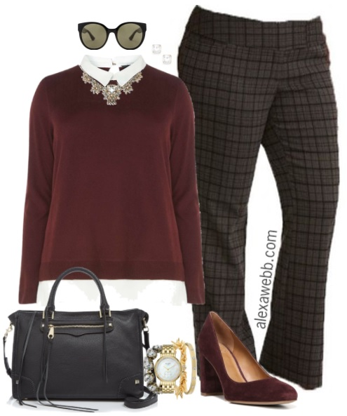 a2a911851fc19 Plus Size Plaid Pants Outfits - Plus Size Work Outfit Ideas - Plus Size  Fashion for