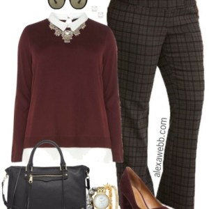Plus Size Plaid Pants Outfits - Plus Size Work Outfit Ideas - Plus Size Fashion for Women - alexawebb.com #alexawebb #fall #work