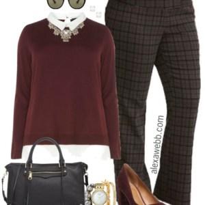 Plus Size Plaid Pants Outfits - Plus Size Work Outfit Ideas - Plus Size Fashion for Women - alexawebb.com #alexawebb #fall #work