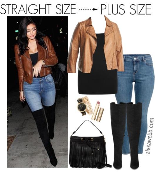 Straight Size to Plus Size – Moto Jacket - Alexa Webb
