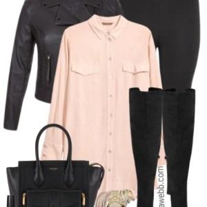 Plus Size Blush Tunic Outfit - Plus Size Fashion for Women - alexawebb.com #alexawebb #plussize