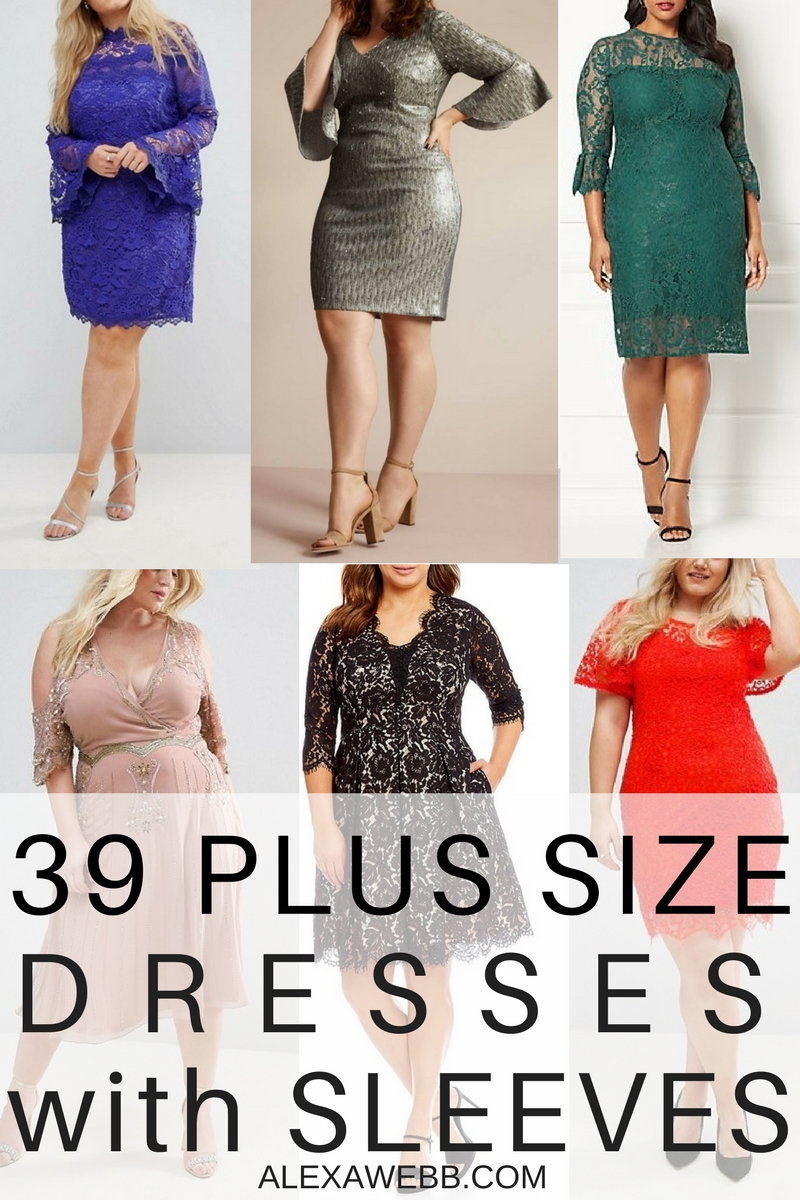 39 Plus Size Party Dresses {with Sleeves}