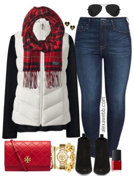 Plus Size White Vest Outfit - Plus Size Fall Outfit - Plus Size Fashion for Women - alexawebb.com #alexawebb