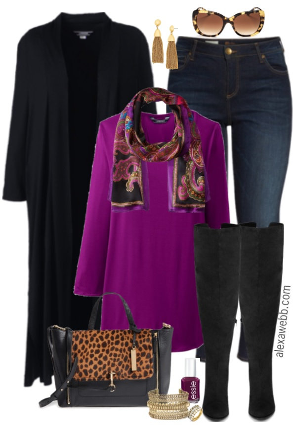 569518ecf6c Plus Size Duster Cardigan Outfit - Plus Size Fall Outfit Idea - Plus Size  Fashion for