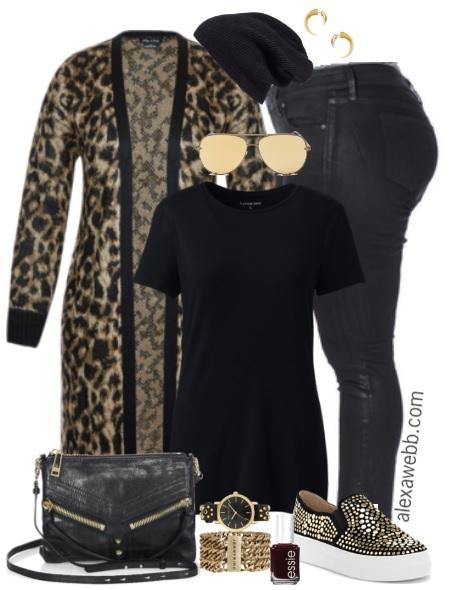 2ab71c947 Plus Size Leopard Cardigan Outfit - Plus Size Fall Winter Outfit Idea - Plus  Size Fashion