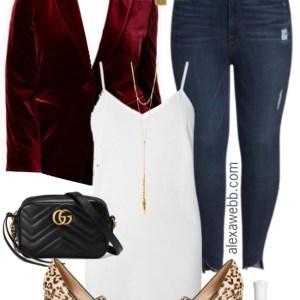 Plus Size Velvet Blazer Outfit - Plus Size NYE Outfit Idea - Plus Size Fashion for Women - alexawebb.com #alexawebb #plussize