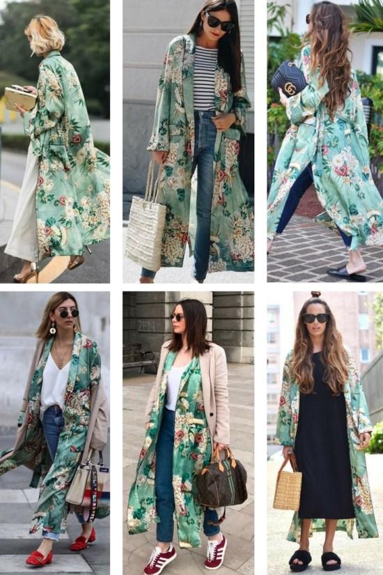 Plus Size Spring Kimono Outfit - Alexa Webb