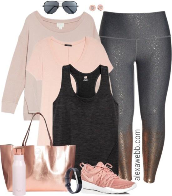 Plus Size Rose Gold Workout Clothes - Plus Size Activewear - Plus Size Fashion for Women - alexawebb.com #alexawebb