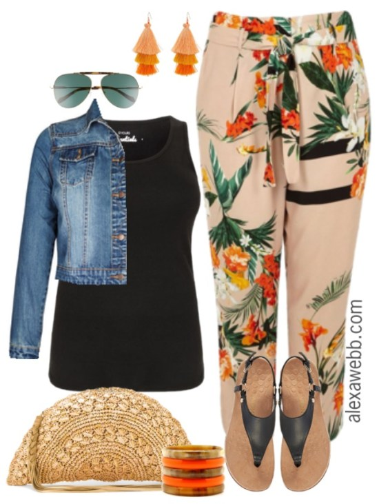 Plus Size Tropical Pants Outfits - Plus Size Spring Casual Outfit - Plus Size Fashion for Women - alexawebb.com #alexawebb #plussize