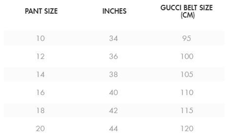 Plus Size Gucci Belt - Size Chart - alexawebb.com