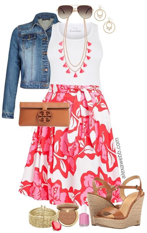 9e5ab70e34e16 Plus Size Summer Skirt Outfit - Alexa Webb