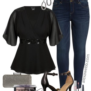 Plus Size Night Jeans Outfit - Plus Size Going Out Outfit - Plus Size Fashion for Women - alexawebb.com #alexawebb #plussize