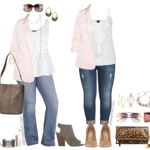 Plus Size Blush Blazer {2 Ways} - Plus Size Outfit Ideas - Plus Size Fashion for Women - alexawebb.com #plussize #alexawebb