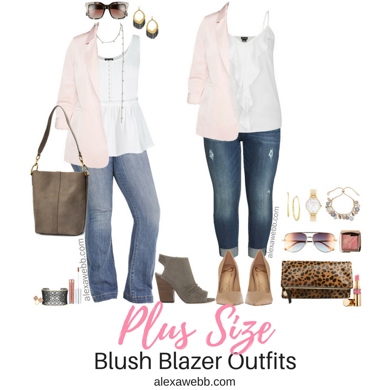 Plus Size Blush Blazer {2 Ways} - Plus Size Outfit Ideas - Plus Size Fashion for Women - alexawebb.com #plussize #alexawebb