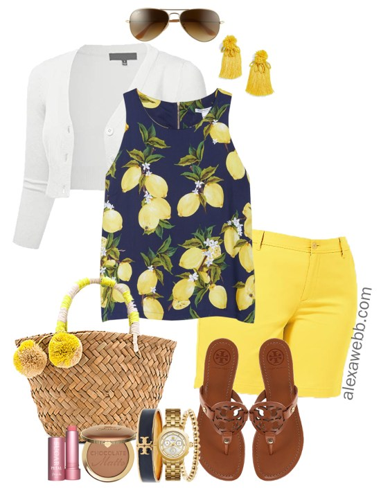 59608d42d52 Plus Size Yellow Shorts Outfit - Alexa Webb