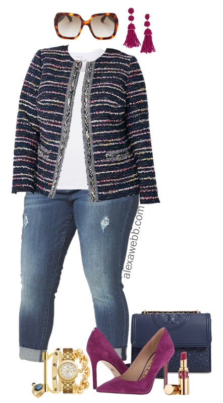 f26f5120b1c Plus Size Tweed Jacket Outfit - Alexa Webb