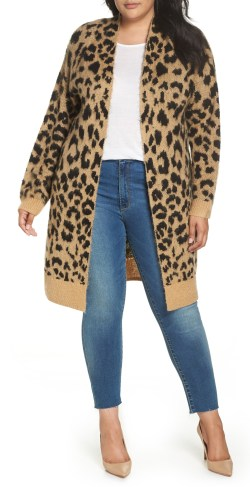 Plus Size Leopard Cardigan Outfit Ideas - Plus Size Fall Outfits - Plus Size Fashion for Women - alexawebb.com #alexawebb #plussize