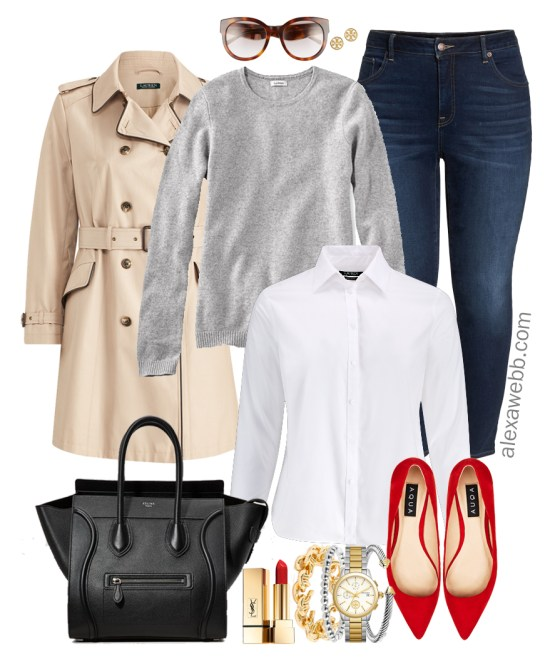Plus Size Outfits with Red Flats - Plus Size Outfit Ideas - Plus Size Fashion for Women - alexawebb.com #alexawebb #plussize