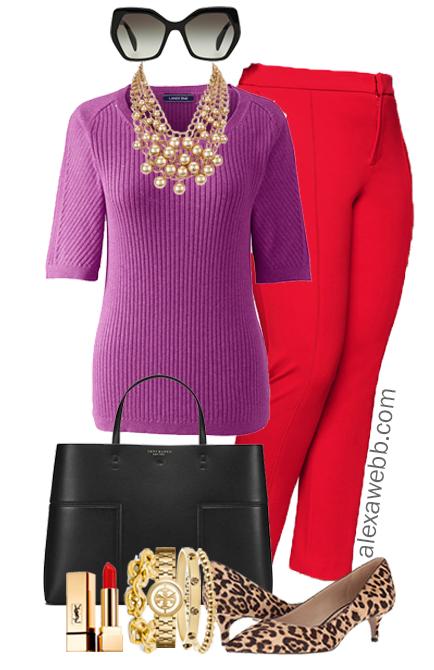 Plus Size Red Pants Work Outfits - Plus Size Work Wear - Plus Size Fashion for Women - alexawebb.com #alexawebb #plussize