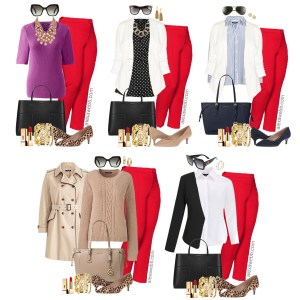 Plus Size Red Pants Work Outfits - Plus Size Work Wear - Plus Size Fashion for Women - alexawebb.com #alexawebb #plussize