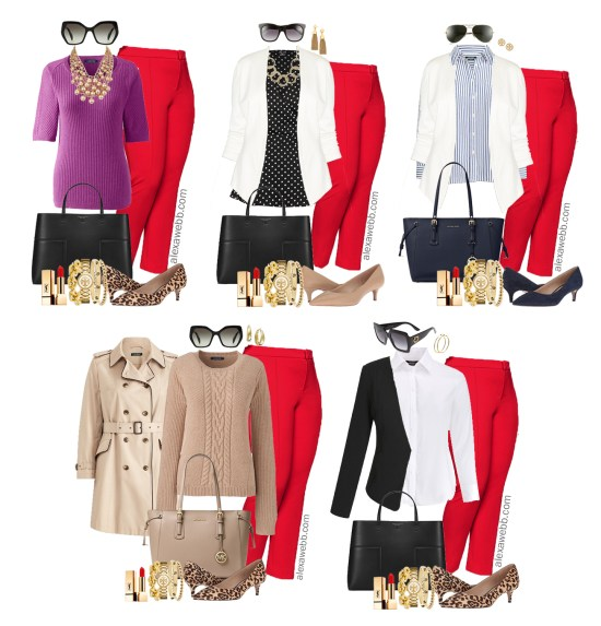 a8bb3db6cfa21 Plus Size Red Pants Work Outfits - Plus Size Work Wear - Plus Size Fashion  for