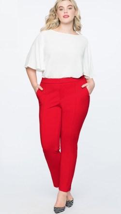 de3b6916dd5 Plus Size Red Pants Work Outfits - Plus Size Work Wear - Plus Size Fashion  for