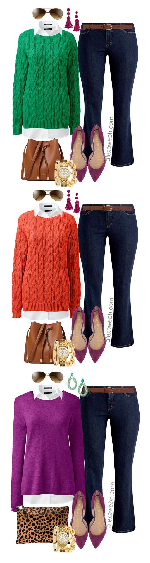 Plus Size Bright Sweater Outfit Ideas - Plus Size Fall and Winter Outfits - Plus Size Fashion for Women - alexawebb.com #alexawebb #plussize