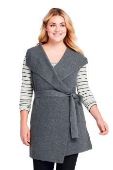 Plus Size Wrap Vest - Plus Size Fashion for Women - alexawebb.com #alexawebb #plussize