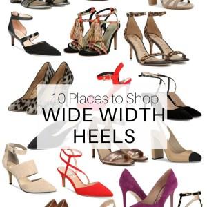 10 Places to Shop Wide Width Shoes - Wide Heels - Plus Size Fashion for Women - alexawebb.com #alexawebb