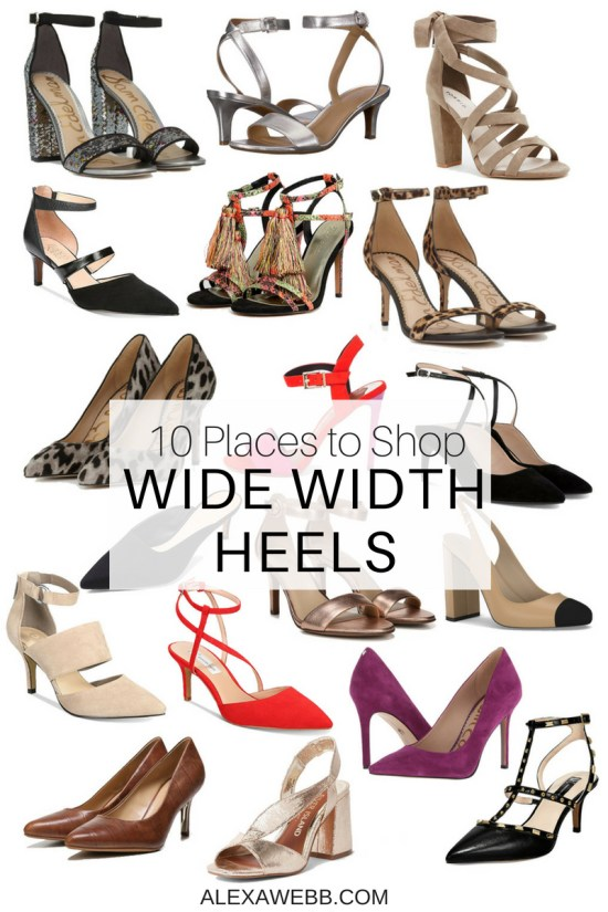 10 Places to Shop Wide Width Shoes - Wide Heels - Plus Size Fashion for Women - alexawebb.com #alexawebb