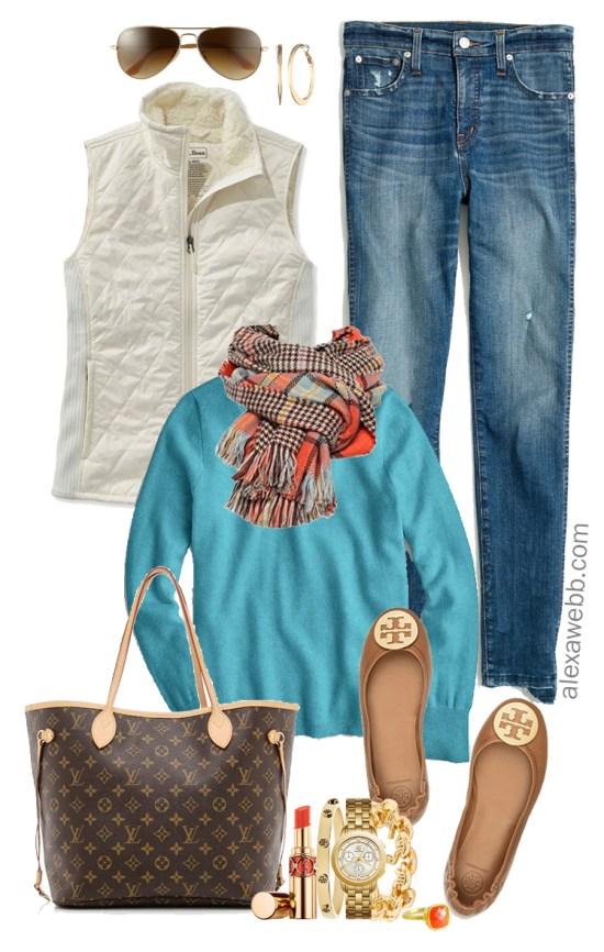 Plus Size Orange Plaid Scarf Outfit Ideas - Plus Size Fall and Winter Outfits - Plus Size Fashion for Women - alexawebb.com #plussize #alexawebb
