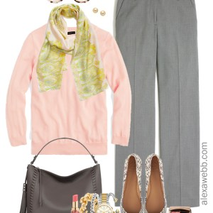 Plus Size Pastel Work Outfit Idea - Plus Size Workwear - Plus Size Fall Winter Work Clothes - Plus Size Fashion for Women - alexawebb.com #plussize #alexawebb